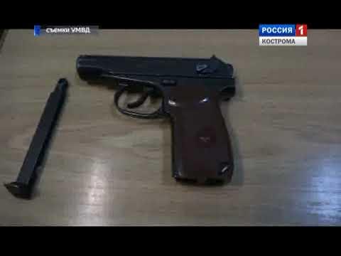 Костромича, пришедшего на автозаправку с пистолетом, задержали полицейские