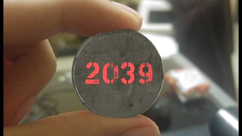 Рабочий нашел монету нацистов. 2039 год на монете