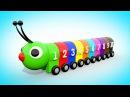 Мультик для малышей - УЧИМ ЦВЕТА И ЦИФРЫ Цветная Гусеница Учимся считать от 1 до 10 Волшебство ТВ