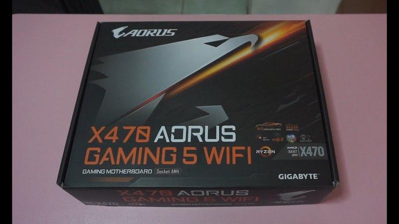 Gigabyte X470 Aorus Gaming 5 WiFi Ryzen 2nd Gen AM4 motherboard