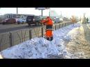 Снег на омских улицах не залёживается