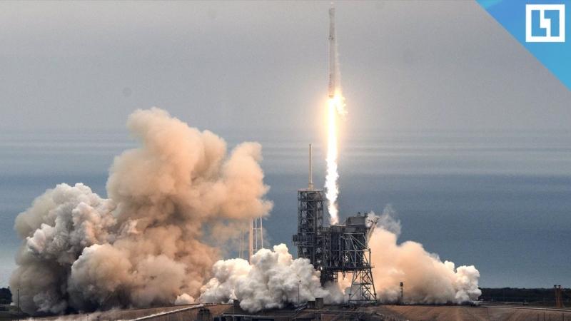 Запуск ракеты Falcon 9 c 7 спутниками