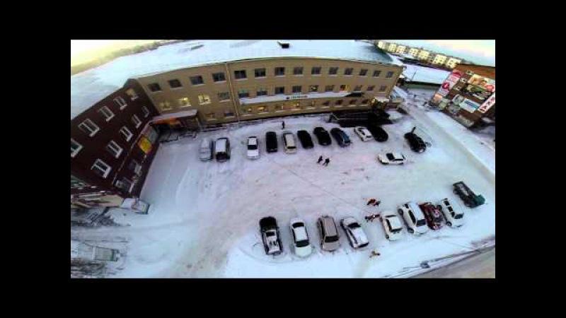 Вид с высоты птичьего полёта г Усолье Сибирское район центрального рынка