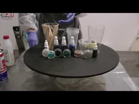 Рисуем картину эпоксидной смолой (в технике Resin Art)