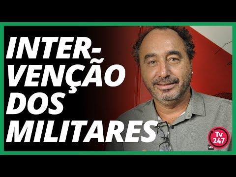 Rovai fala, ao vivo, sobre intervenção militar
