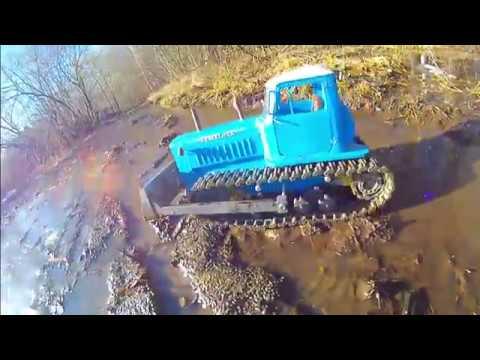 ДТ-75 Казахстан - радиоуправляемый трактор, напечатанный на 3D принтере.