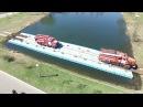 Понтонный мост из пластиковых понтонов Magic Float грузоподъемность 40 тонн