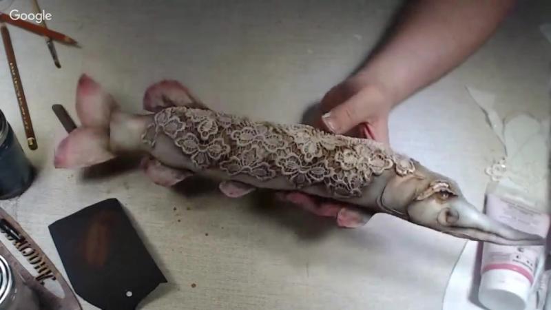 МК А.Голеневой текстильная щука