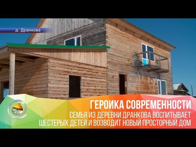 Семья из деревни Дранково воспитывает шестерых детей и возводит дом