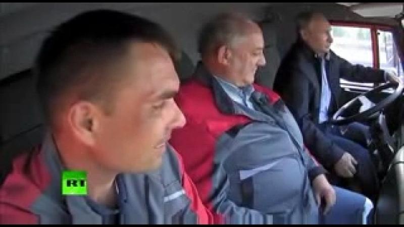 У Путина не включается передача на КамАЗе, Крымский мост 2018 прикол