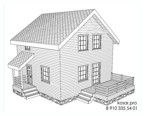 Одноэтажный дом с мансардным этажом 5025