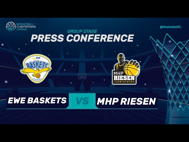 EWE Baskets Oldenburg v MHP Riesen Ludwigsburg - Press Conf. - Basketball Champions League 2017-18