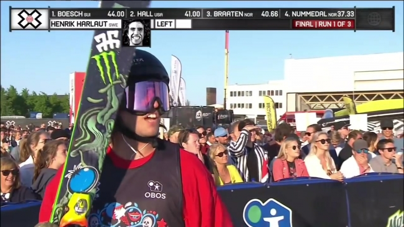 Henrik Harlaut wins Mens Ski Big Air silver X Games Norway 2018