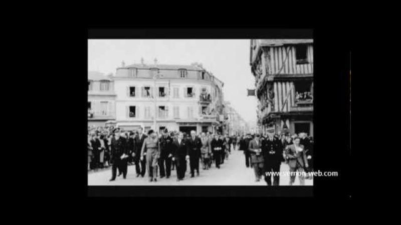 Vernon en 1950 Vidéos Photo d'un biplane au dessus de l'Avenue de l'Ardèche 1910