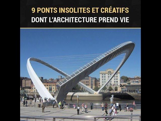 9 ponts insolites et créatifs dont l'architecture prend vie
