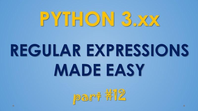 Python Regular Expressions -part 12 - Re.sub