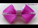 Бантики из лент/ How to make kanzashi hairclip/ DIY ribbon hair bow/ Laço de fitas/ Ola ameS DIY