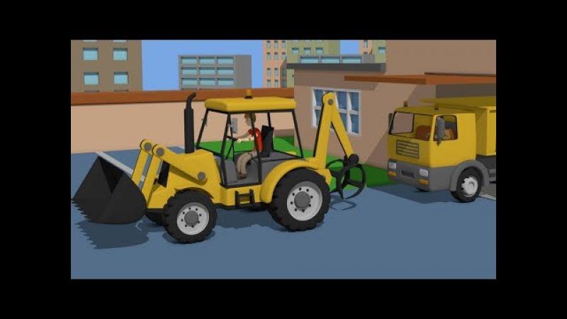 Truck and Excavator - Cleaning after a Storm | Maszyny Budowlane - Sprzątanie po Burzy - Bajki