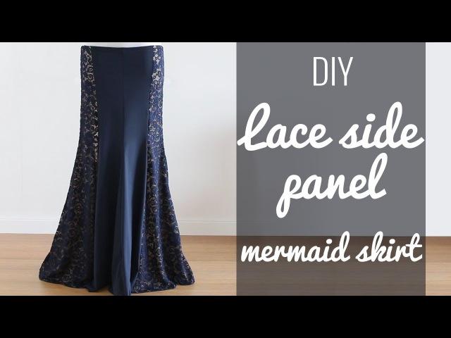 DIY Lace Side Panel Mermaid Skirt (BDCW pattern hack!)