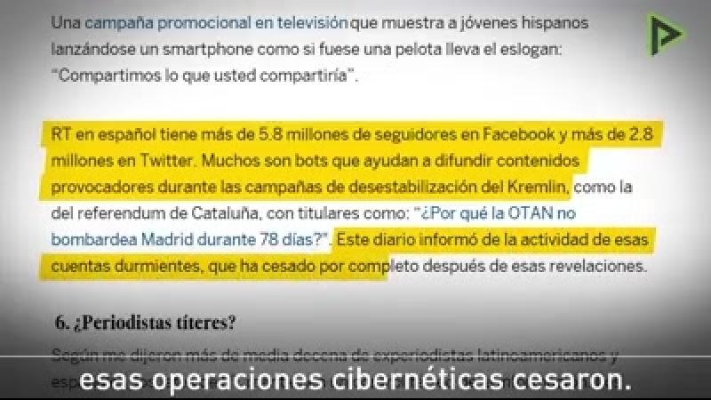 Cuenta la leyenda que una vez El País sacó un ejemplar en el que no mencionó a RT ni una sola vez en ninguna de sus páginas