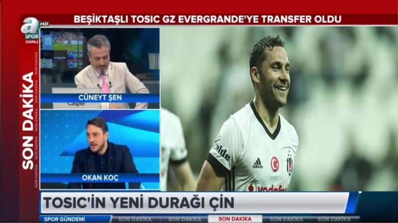 Beşiktaşta ilk ayrılık! Dusko Tosic Guangzhou Evergrandeye transfer oldu