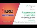 Аудитории в Яндекс Директе. Настройка Look-Alike похожих Аудиторий