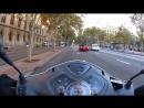 Утром на дорогах Барселоны на Мото 6 RHP