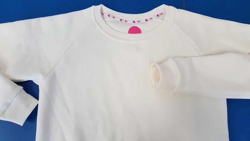 Overlock How to Sew a Raglan Sleeve 💎 Jak uszyć bluzę z długim rękawem raglan