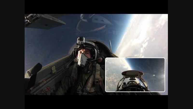 Полет в стратосферу на истребителе МиГ-29 .