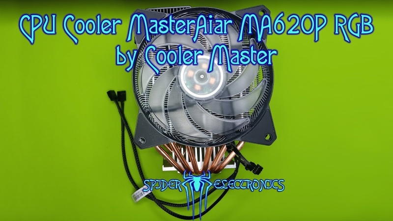 CPU Cooler MasterAiar MA620P by Cooler Master SergSpider review SpiderChannel FullHD