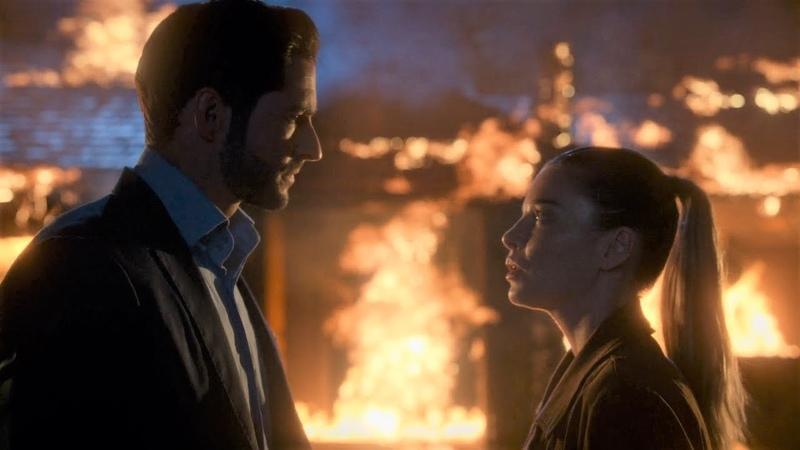 Люцифер 4 сезон 2 серия - Люцифер выходит из горящего здания