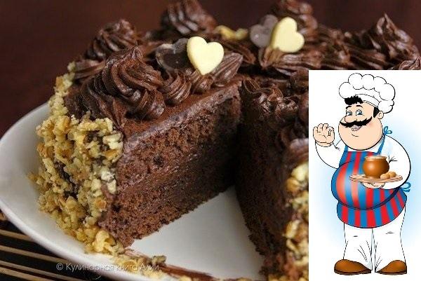 Шоколадный торт по госту. Вам потребуется: Для бисквита: яйца 5 шт. сахар 125 гр. мука 125 гр. какао 1 ст.л. Для крема: сгущенное молоко вареное 200 гр. масло сливочное 200 гр. какао 50 гр.