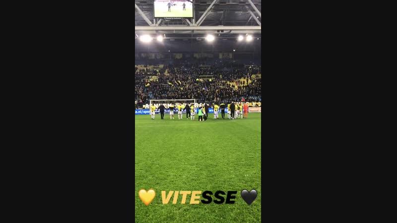 Команда поблагодарила после матча болельщиков после победы над Эксельсиором (32)
