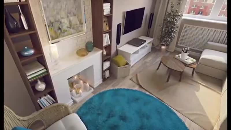 Дизайн однокомнатной квартиры 43 кв. метров от студии Guinea-Идеальный ремонт