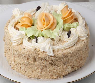 Фото: Торт «Праздничный» <br> <br>ингредиенты: <br> <br>Для теста: <br>5 яиц <br>1 ст. сахара <br>1 ст. муки <br>0,5 ч. л. разрыхлителя для теста <br>Щепотк