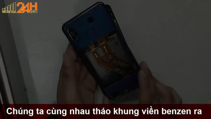 Tháo và khám phá nội thất Samsung Galaxy A30 chính hãng [ Suadienthoai24h.vn ]