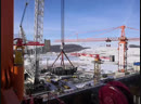 Курской АЭС-2 установка 2-ой части устройства локализации расплава активной зоны энергоблока №1.