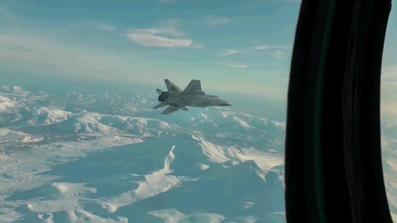 Истребители МиГ-31 в Стратосфере.