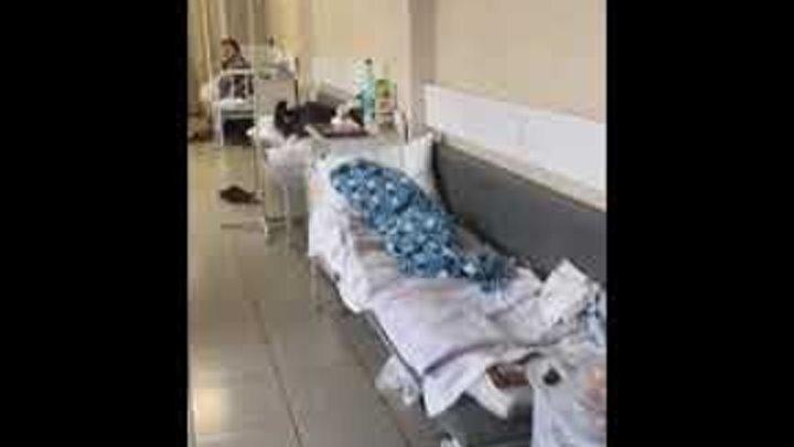 Пациенты в больницах России лежат в коридорах, а мы другим странам помогаем!