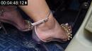 Car feet worship Pedal Pumping feet Fettish feet worship femdom