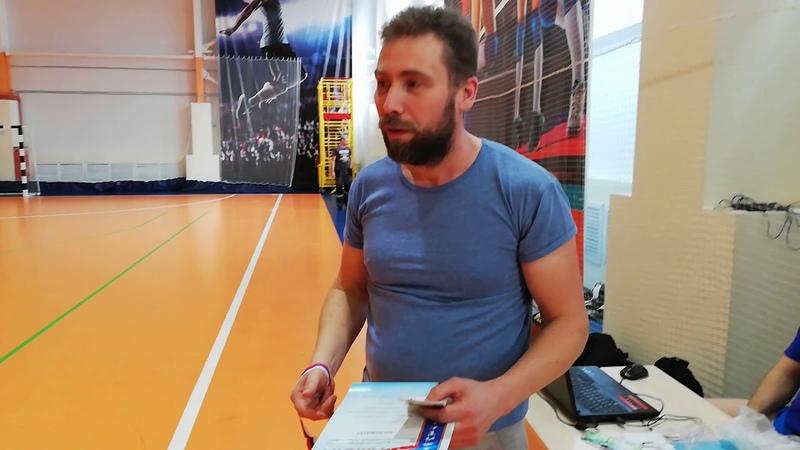 Награждение победителей первенства города Сызрани по настольному теннису в личном зачёте