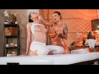 Vanessa Decker, Stacy Cruz - Stunners with amazing natural tits (Lesbian, Massage, Pussy Fingering, Pussy Licking, Oil, Czech)