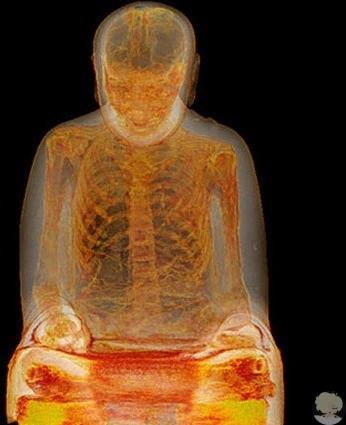 В 2015 году учёными была обнаружена статуя Будды, в которой содержался настоящий скелет монаха