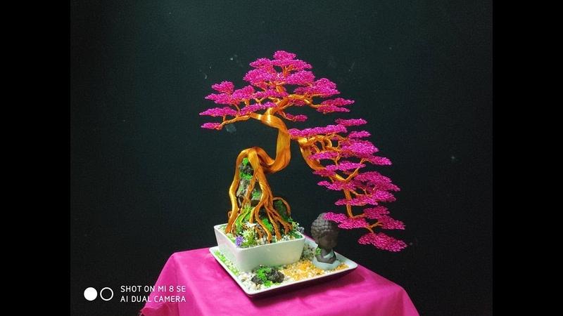 Hướng dẫn làm Bonsai dây đồng chi tiết bonsai handmade. dây nh m.Cách làm cây bằng dây đồng.
