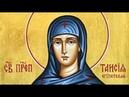Церковный календарь 21 октября 2019. Преподобная Таисия (IV)