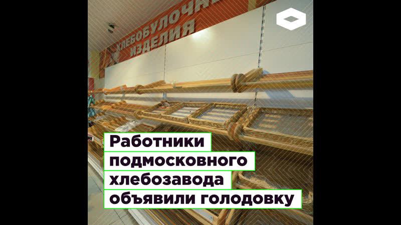 В Подмосковье четыре месяца не платят работникам хлебозавода. Они объявили голодовку | ROMB