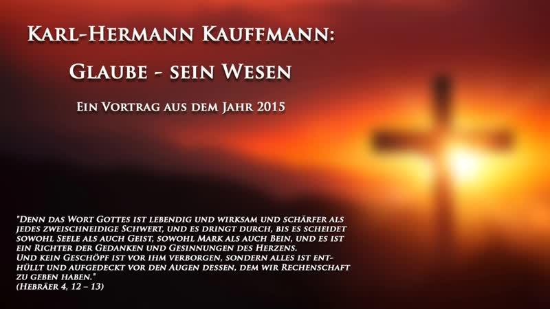 K.-H. Kauffmann: Glaube - sein Wesen