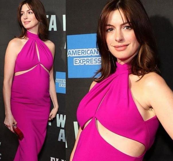 Беременная Энн Хэтэуэй вышла на красную ковровую дорожку!