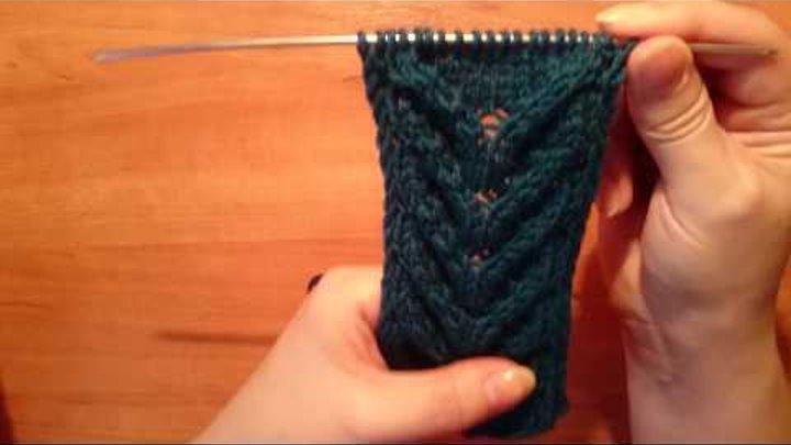 Вяжем спицами: Простой красивый объёмный узор / КОСАЁЛОЧКА/ Knitting pattern