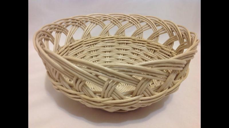 24 Мастер-класс от А до Я Корзинка с ажурной загибкой. DIY. Basket with openwork top. ENG SUBS.